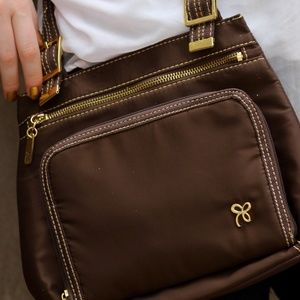 Cute Lina Brown Crossover Bag